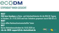Teilnahmestipendien RDA DE Tagung 2020